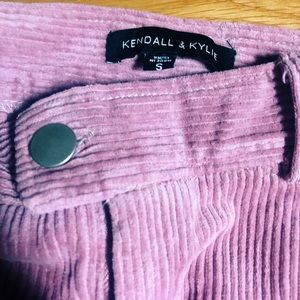 Kendall & Kylie Skirts - Kendall and Kylie Corduroy Pink Mini Skirt